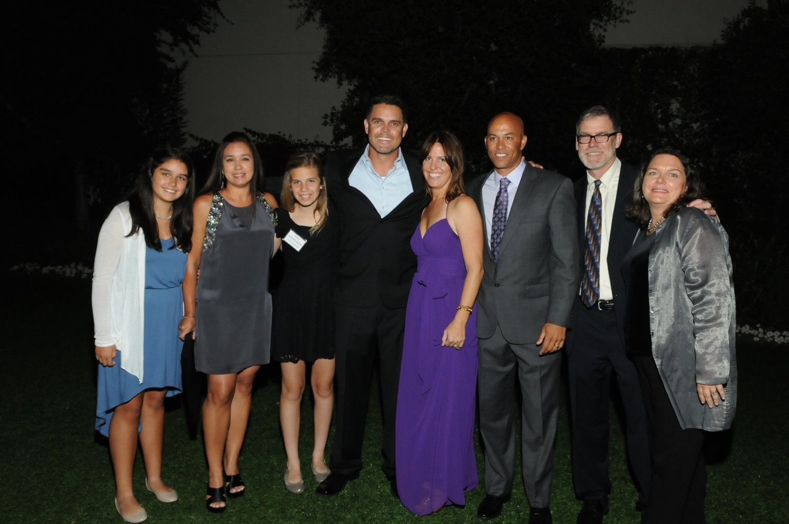 2013 Honorees Marc and Nicole Weiss. Left to right - Madison Weiss, Nicole Weiss, Nathalie Martin, Marc Weiss, Amy Martin, Chris Martin, Stan Nelson, Carrie Miceli