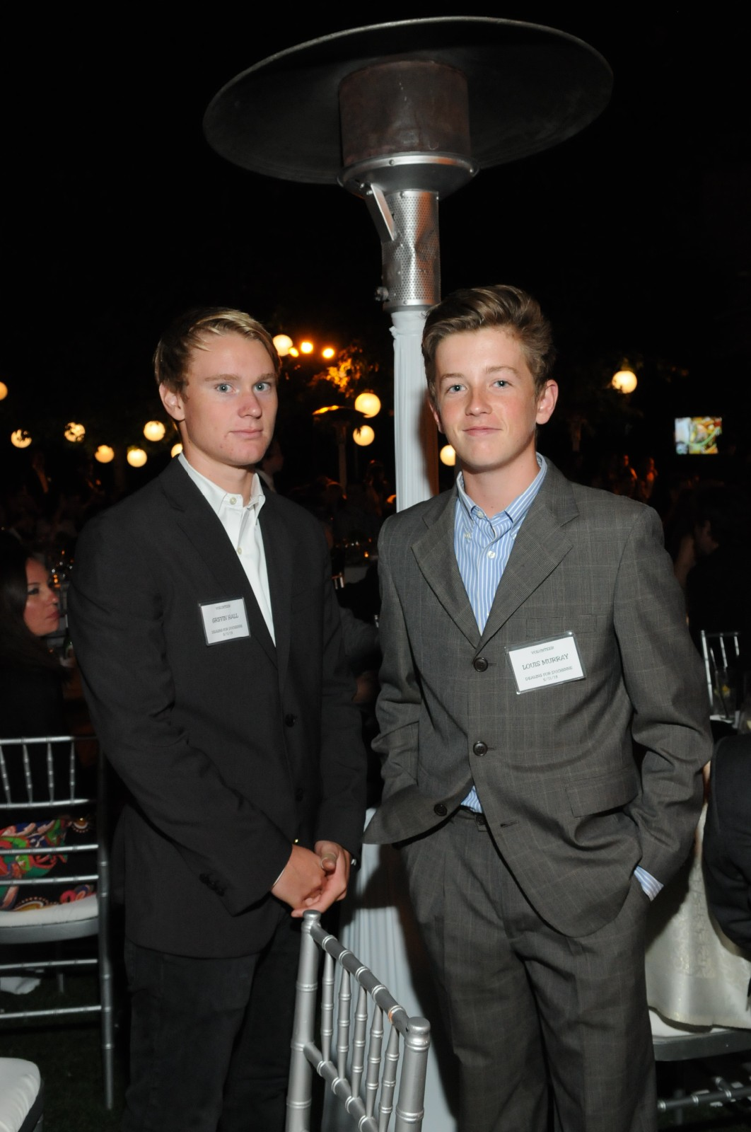Youth Volunteers Griffin Hall and Louis Murray